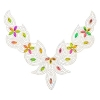 Motif Collar Hot-Fix V-shape 24x18cm Multicolored